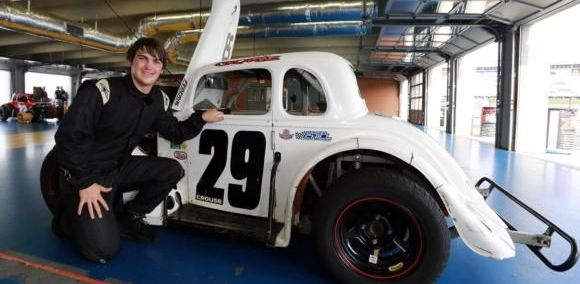Sheldon Crouse, a driver in the Semi-Pro division at the Jack in the Box Summer Shootout Series, also works as an EMT-paramedic in Cabarrus County. (Credit CMS/Tami Pope)